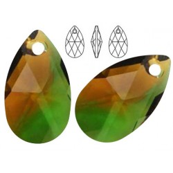 Swarovski 6106 Pear-shaped 22mm Fern Green Topaz Blend