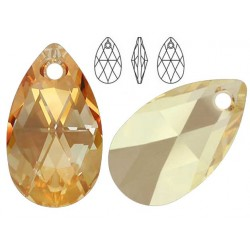 Swarovski 6106 Pear-shaped 22mm Golden Shadow