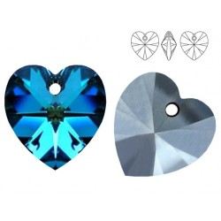 Swarovski 6228 Heart 10mm Bermuda Blue