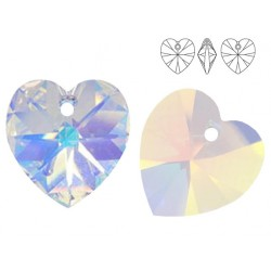 Swarovski 6228 Heart 10mm Crystal AB