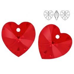 Swarovski 6228 Heart 10mm Light Siam