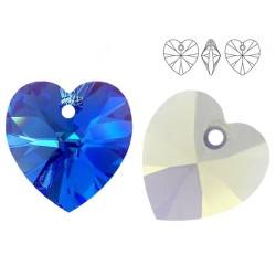 Swarovski 6228 Heart 10mm Sapphire AB