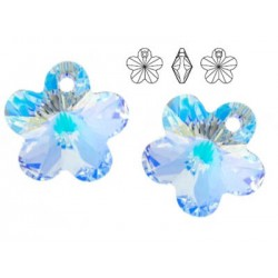 Swarovski 6744 Flower 14mm Crystal AB