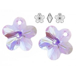 Swarovski 6744 Flower 14mm Violet AB