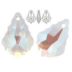 Swarovski 6090 Baroque 16mm Crystal Blue AB