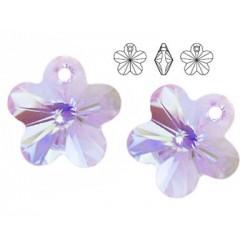 Swarovski 6744 Flower 14mm Violet AB