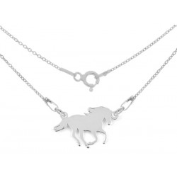 STERLING SILVER HORSE NECKLACE