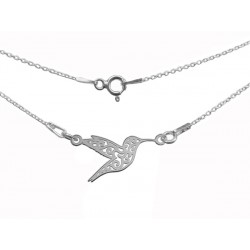 STERLING SILVER HUMMING-BIRD NECKLACE