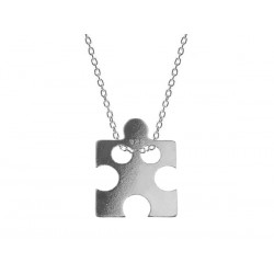 Naszyjnik celebrytka srebro 925 - puzzel